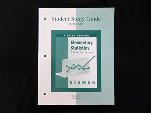 Student Study Guide for use with Elementary Statistics: A Brief Version (0072369442) by Allan G. Bluman; Pat Foard