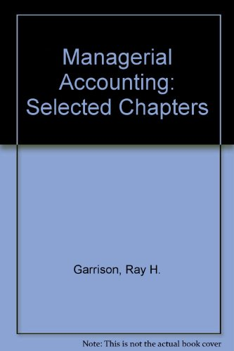 9780072369946: Managerial Accounting: Selected Chapters