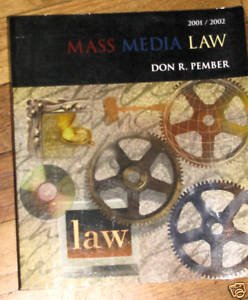 9780072370539: Mass Media Law 2001 - Prmber - Paperback - Edition: twelfth