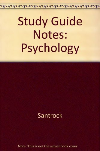 9780072371918: Study Guide Notes: Psychology