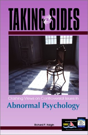 9780072371932: Taking Sides: Clashing Views on Controversial Issues in Abnormal Psychology