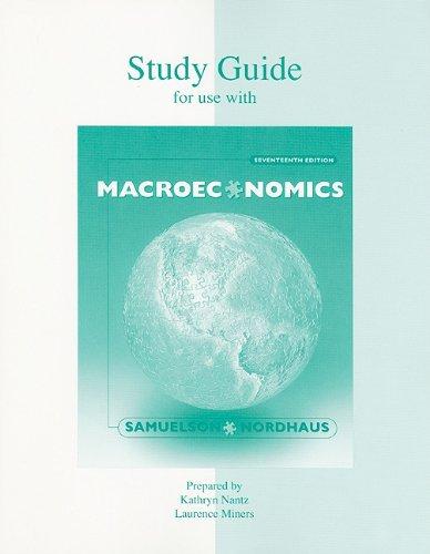 9780072372380: Study Guide t/a Macroeconomics