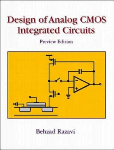 9780072372717: Design of Analogue CMOS Integrated Circuits: Preliminary Edition (McGraw-Hill Series in Electrical and Computer Engineering)