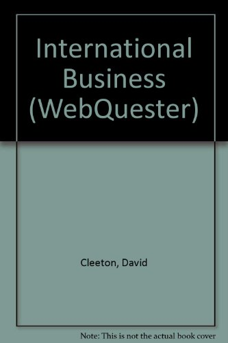 9780072373110: WebQuester: International Business
