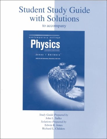 9780072374810: Student Study Guide (Reprint) to accompany Contemporary College Physics