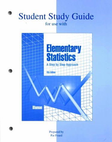 9780072375862: Study Guide t/a Elementary Statistics: A Step by Step Approach