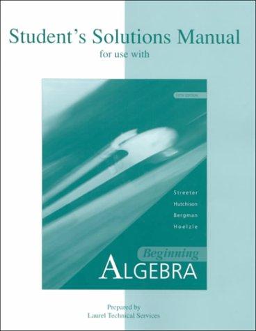 9780072377187: Beginning Algebra