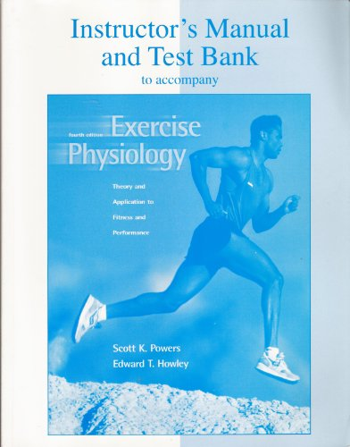 9780072378412: Instructor's Manual and Test Bank to Accompany Exercise Physiology