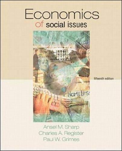 9780072378771: Economics of Social Issues