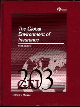 9780072379457: The Global Environment of Insurance