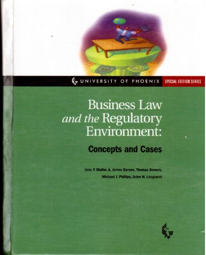 9780072380040: Business Law and the Regulatry Environment. Concepts and Cases: University of Phoenix