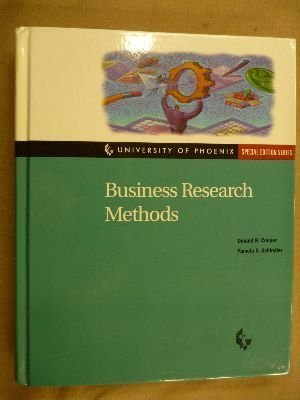 Business Research Methods (University of Phoenix: Special: Cooper, Donald R.;