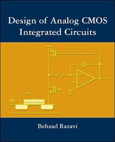 9780072380323: Design of Analog CMOS Integrated Circuits