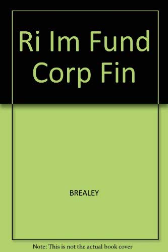 9780072380637: Ri Im Fund Corp Fin
