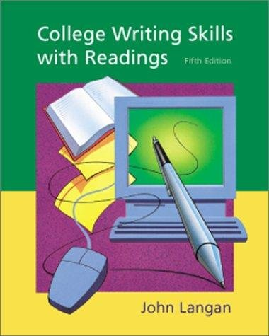 College Writing Skills with Readings (0072381221) by Langan