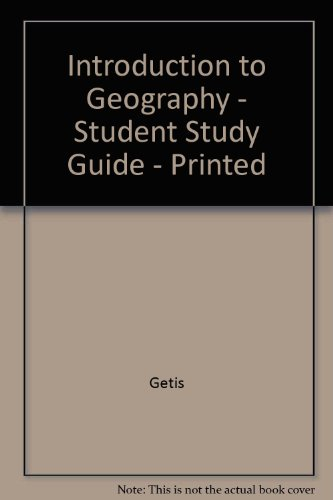 9780072381917: Student Study Guide to Accompany Introduction to Geography (7th Edition)