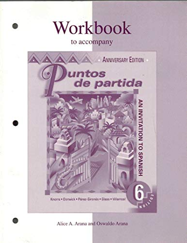 9780072382587: Workbook to accompany Puntos de partida