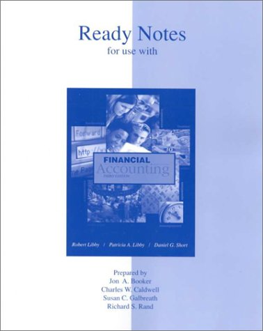 9780072383744: Ready Notes for use with Financial Accounting