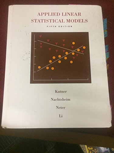 9780072386882: Applied Linear Statistical Models (McGraw-Hill/Irwin Series Operations and Decision Sciences)