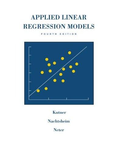 9780072386912: Applied Linear Regression Models