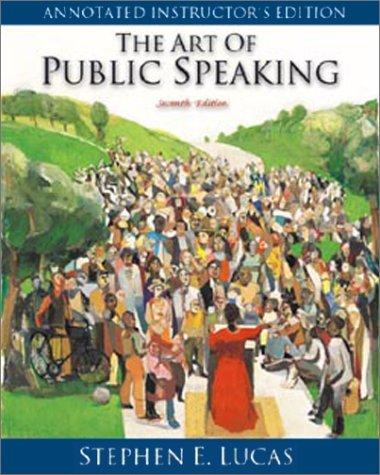 9780072387766: Art of Public Speaking: Annotated