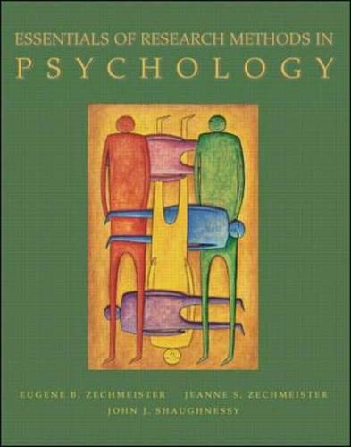 9780072388152: Essentials of Research Methods in Psychology