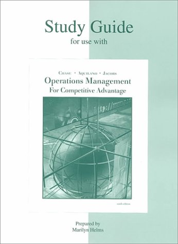 9780072392791: Study Guide for use with Production and Operations Management