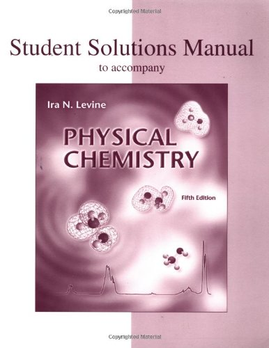 9780072393606: Student Solutions Manual to Accompany Physical Chemistry