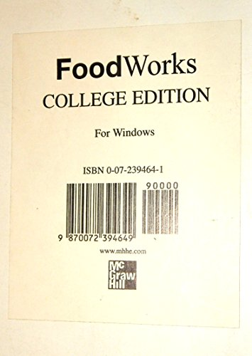 9780072394641: FoodWorks: College Edition Package Version