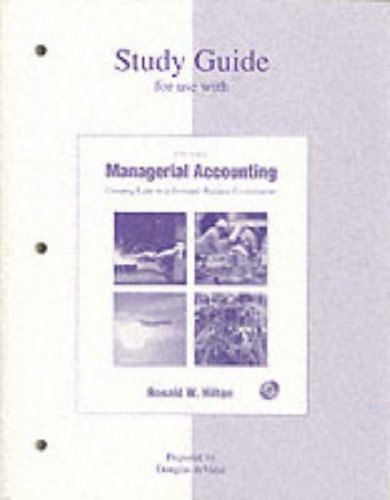 9780072394825: Study Guide for use with Managerial Accounting