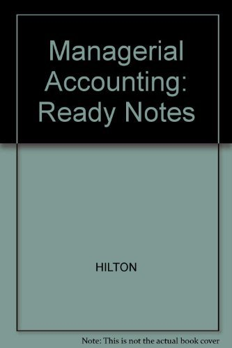 9780072394832: Ready Notes for use with Managerial Accounting