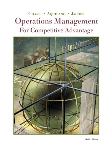 9780072395303: Operations Management for Competitive Advantage