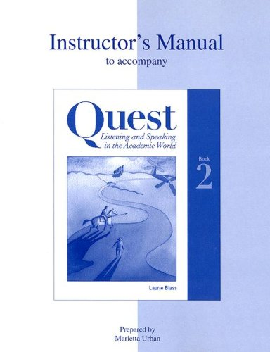9780072396386: Quest Listening and Speaking in the Academic World