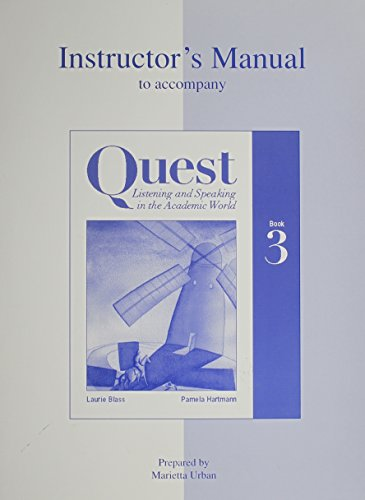 9780072396393: Quest Listening and Speaking in the Academic World