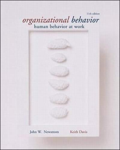 9780072396751: Organizational Behavior: Human Behavior at Work