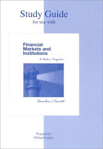 9780072397031: Study Guide to Accompany Financial Markets and Institutions