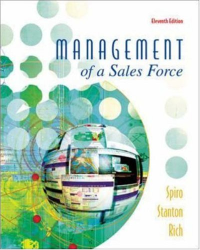 9780072398878: Management of a Sales Force