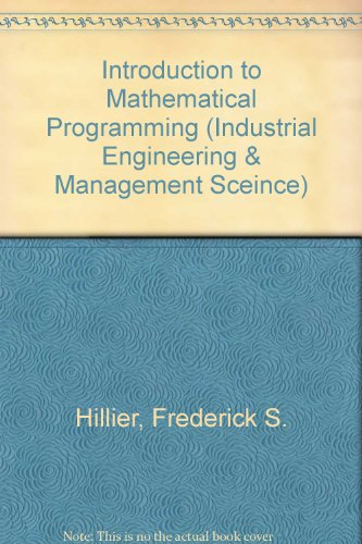 9780072399592: Introduction to Mathematical Programming With Courseware (Industrial Engineering & Management Sceince)