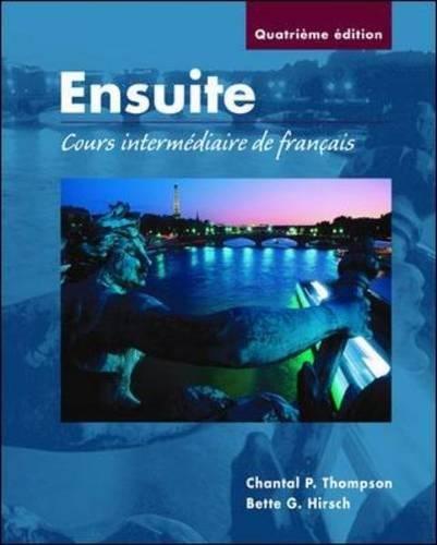9780072402605: Ensuite: Cours intermediaire de francais