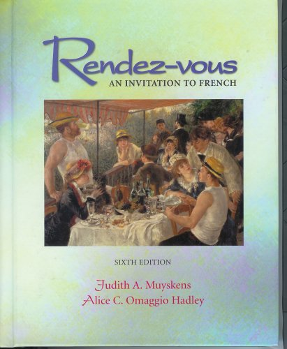 9780072402636: Rendez-vous : an invitation to French
