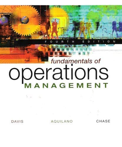 9780072402858: Fundamentals of Operations Management