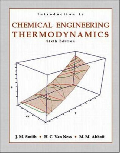 9780072402964: Introduction to Chemical Engineering Thermodynamics (Chemical Engineering Series)