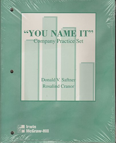 9780072403114: You Name It Co. Practice Set