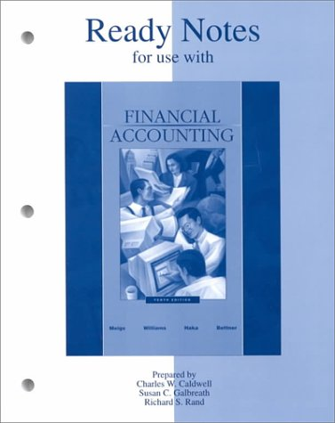 9780072404142: Ready Notes for use with Financial Accounting
