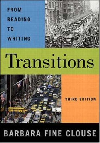 9780072405217: Transitions: From Reading to Writing