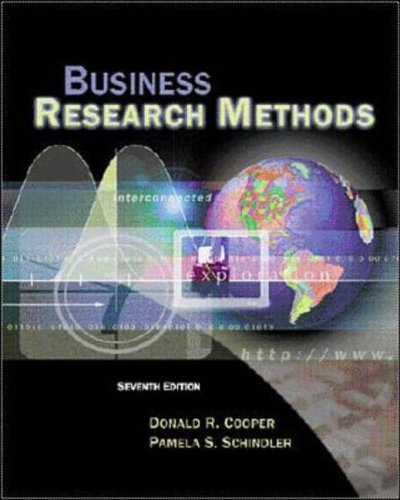 9780072407419: Business Research Methods (The Irwin/McGraw-Hill series. Operations and decision sciences)