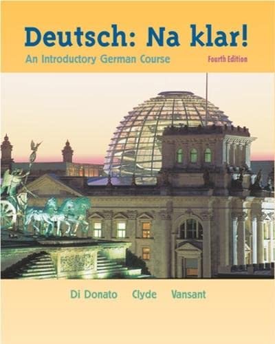 9780072408171: Deutsch, Na Klar: An Introductory German Course (German Edition)