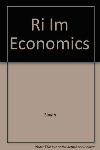 Economics, Sixth Edition: Instructor's Manual (2002 Copyright): Slavin And Maier