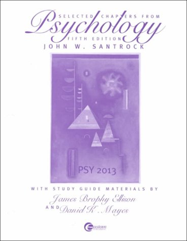 9780072411652: Selected Chapters from Psychology