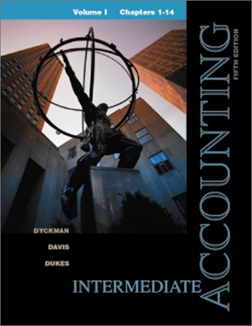 9780072412222: Intermediate Accounting Volume I, Chapters 1-14